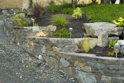 Gaia Landscape Multi-stone wall