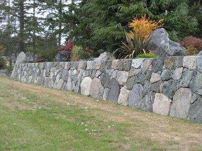 Granite Wall - drystacked
