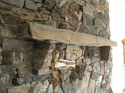 Idaho Mountain - fireplace mantle