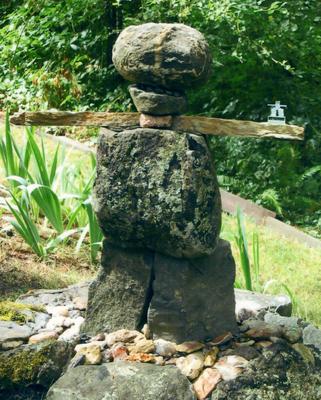 A stone Inuksuk (aka: Eskimo scarecrow)
