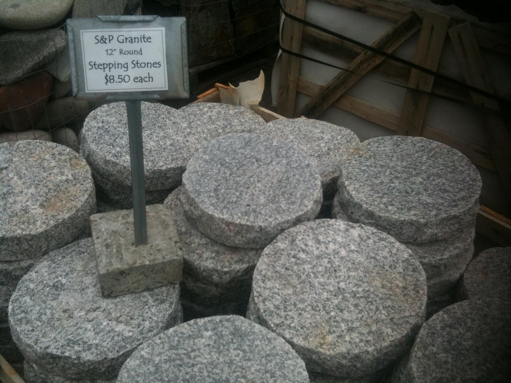 Granite Stepping Stones : Round granite stepping stones japanese stone lanterns
