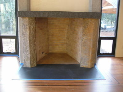 Columnar mantle legs - Hunts Residence