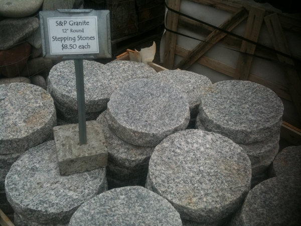 Round Granite Stepping Stones Japanese Stone Lanterns