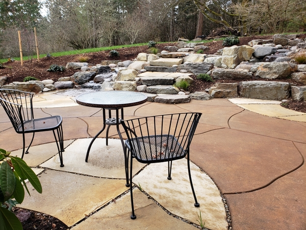 Image Patio and Water Feature by HamHopson Landscape