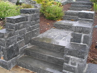 Image Black Granite Stair Tread System