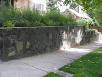 Black Basalt Wall - exquisite craftsmanship... thumbnail
