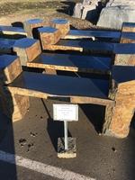 Image Black Basalt Double Arm Benches